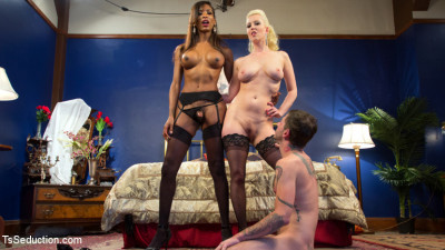 Cherry lures boytoy for deep ass pounding 3some with Natassias cock!