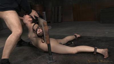 Sexy Aria Alexander bound in brutal