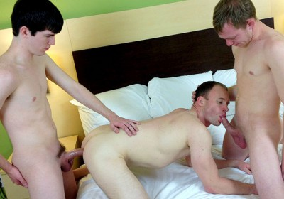 Tanner Adams, Phillip Grant and Landon Wright gay boys with a nose loop friend suck cock!