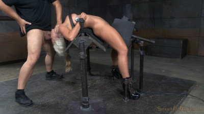 Big Breasted Sybian Slut Holly Heart Bent Over Backwards Brutal Drooling Deepthroat (2015)