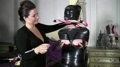 Description Extreme bondage and torture for horny Brunette