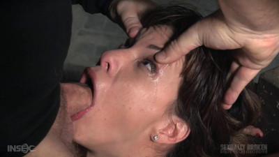 Tiny deepthroat expert put through her paces