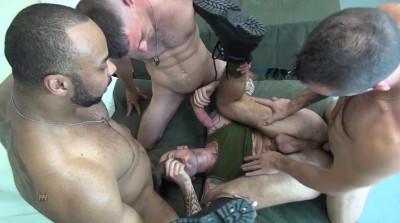 Three Big Cocks In Gangbang