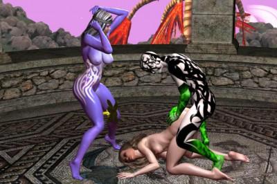 Hot Cgi gets Laid by 3D fantasy