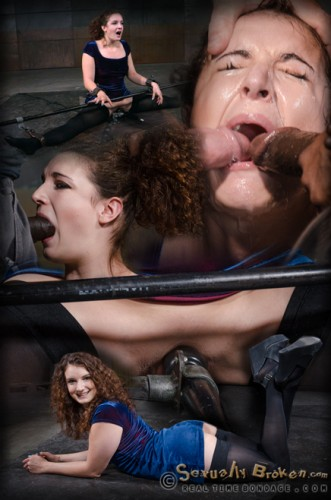[Realtimebondage]Curly haired newbie Endza bound into the splits and facefucked