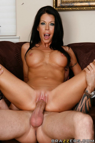 Foxy Dark-Haired Milf Seduces A Young Guy