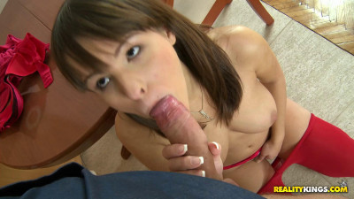 Hot Girl Fucks With Him All Over The Kitchen