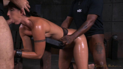 Wenona belted in strict bondage and roughly fucked with BBC, brutal punishing deepthroat!