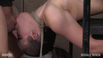 Iona Grace's Big Natural Breasts Bound As She Is Throatboarded And Made To Cum Part 1