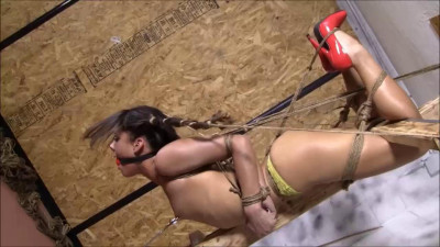 Tight Bondage, Torture And Strappado For Sexy Brunette