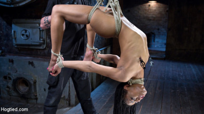 All Natural Ebony Newcomer In Brutal Bondage And Suffering Like A Pro