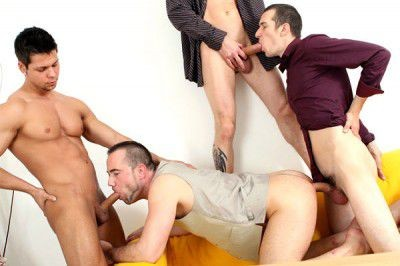 Ennio, Caleb and Georgio Triple Penetrate Paris Nio