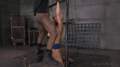 MILF Holly Heart shackled to a sybian