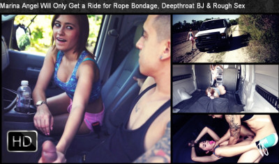 SexualDisgrace - Dec 12, 2014 - Marina Angel Will Only Get a Ride for Rope Bondage