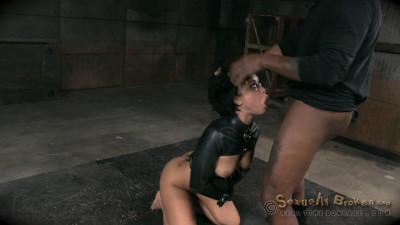 Nubile Mia Austin Stuck In Straight Jacket, Deepthroats In Inverted Suspension