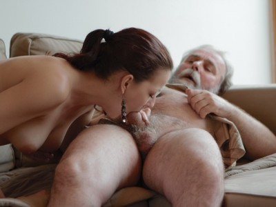 Description Ilona and her man are sharing a good time when he invites his older friend over