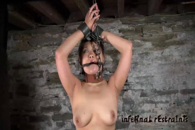 She's Chained In Full Metal Restraint On Tiptoes With Bit, Heavy Collar
