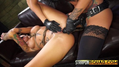 StraponSquad Alby Rydes Loves Lesbian Domination and Rough Sex with Esmi Lee