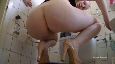 POV shit in sexy high heels