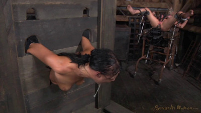Two Well Used Barn Sluts Restrained Strict Bondage Epic London River Darling Tag Team (2015)