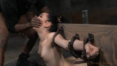Sexy Aria Alexander Bound In Brutal Back Arch Throatboarded Punishing Deepthroat (2015)