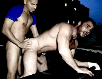 Antonio Biaggi & Mike Dozer in the scene Loaded On A Roughtop