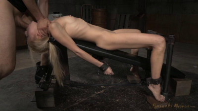 Odette Delacroix shackled to fucking machine