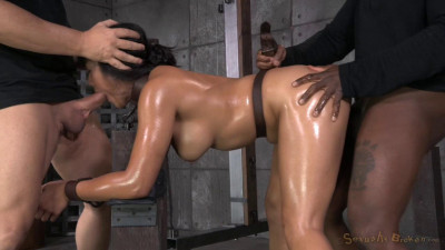 Hot Filipina Mia Li Is Bound, Oiled, Brutally Face Sex And Drilled With Cock! Made To Cum And Cum