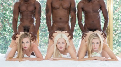 Elsa Jean, Rachel James, Sydney Cole — Three Blondes and Three BBCs (2016)