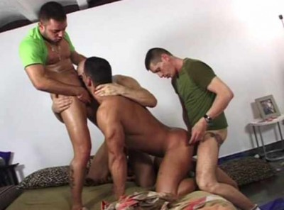 Street Muscle Men In Orgy