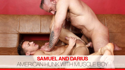 American Hunk with Muscle Boy