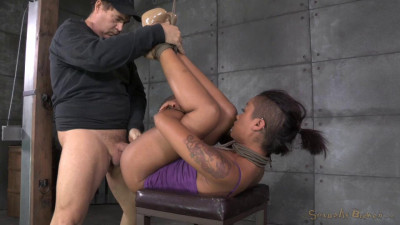 Smoking Hot Skin Diamond Stuffed Full Of Dick From Both Ends, Bound Tight With Brutal Deepthroat