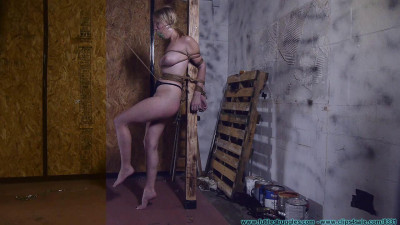 Allegra HogCuffed, Crotch Chained, then Crotch Roped - Part 2