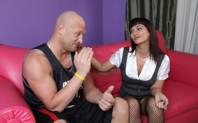 Horny MILF Carrie Ann Rimming Man Ass