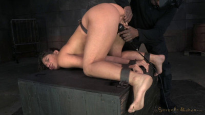 Abella Danger Shackled And Roughly Fucked With Brutal Drooling Deepthroat