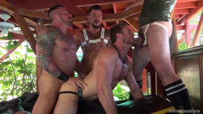 Gangbang training with brutal men