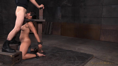 SexuallyBroken – Nov 11, 2015 – Busty Asian Mia Li Shackled To Sybian And Throatboarded