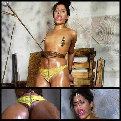 Chi Chi Oiled Crotch Roped Then Crotch Taped # 2 - FS