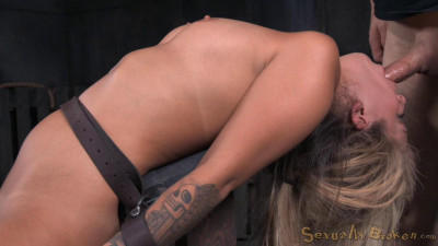 Sexy blonde Madelyn Monroe bound