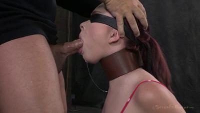 Girl next door, brutally skull fuck & bound in splits