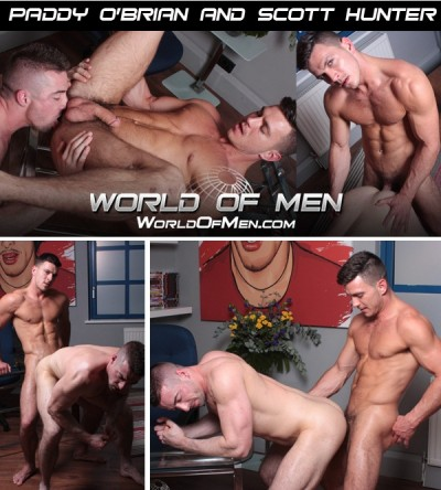 Scott Hunter Sucks, Rims, Then Gets Fucked By Hung Brit Paddy O'Brian
