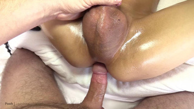 Hung Femboy Cums 2X and Creampie