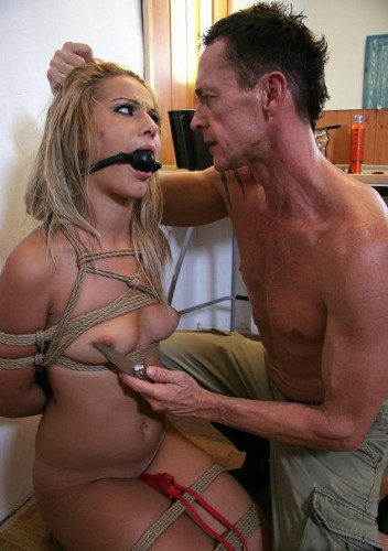 Tied up, fucked, and beaten slave