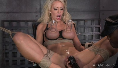 Hot blonde Bondage