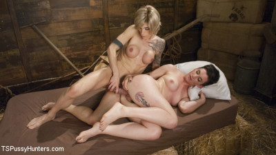 TS Nina Lawless gives Joey Minx the boot in the most loving way