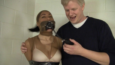 Taped Pump Gagged And Drooling