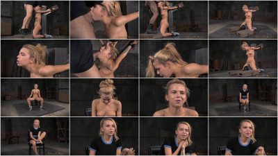 Adorable Cutie Alina West Strappado Bound Sybain Throat Trained Drooling Deepthroat (2015)