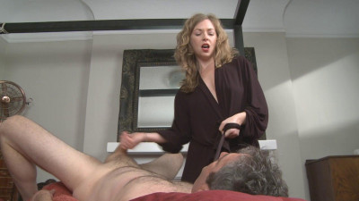 Mistress masturbating servant