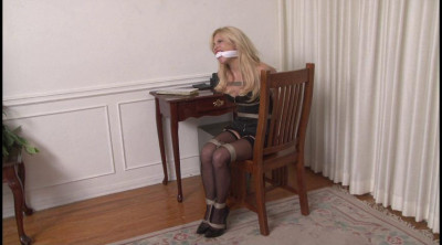 Bound and Gagged - Barefoot  in Bondage - Kelly KaneOffice Bondage for Sexy Casey Quinn