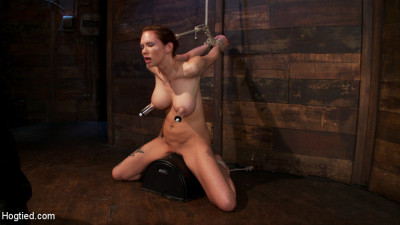 Extreme Nipple Torment, Brutal Gag, A Skull Fucking, While The Sybian Makes Her Cum Her Brains Out
